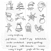 Stampers Anonymous/Tim Holtz - Cling Mount Stamp Set - December Doodles - CMS355